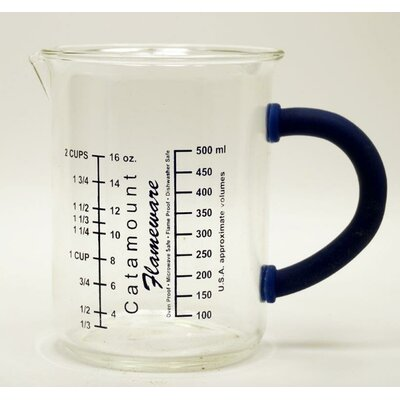 2 Cup Glass Measuring Cup with Handle Color: Blue CGS4472BL