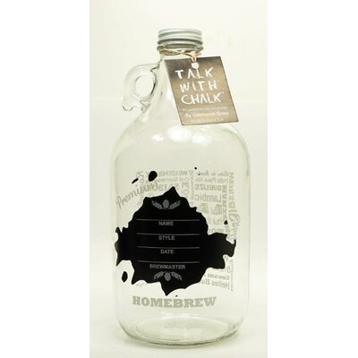 Ink Blot Chalkboard Decorative Bottle