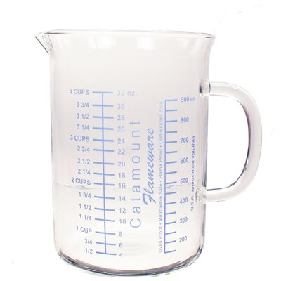 4 Cup Glass Measuring Cup with Handle Color: White CGS4489WT