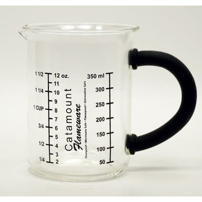 Glass Measuring Cup with Handle Color: Black CGS4465BK