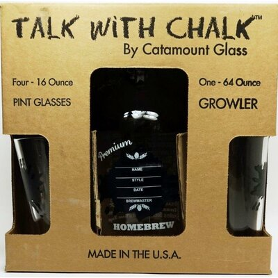 Ink Blot Chalkboard Decorative Bottle Set