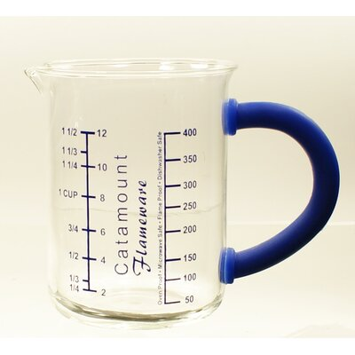 Glass Measuring Cup with Handle Color: Blue CGS4465BL