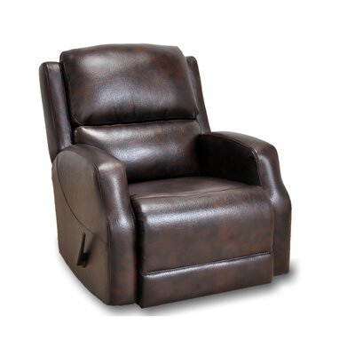 Vibes Rocker Recliner Upholstery: Java, Recline Type: Power