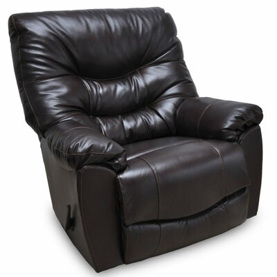 Eugenie Rocker Leather Recliner Upholstery: Espresso
