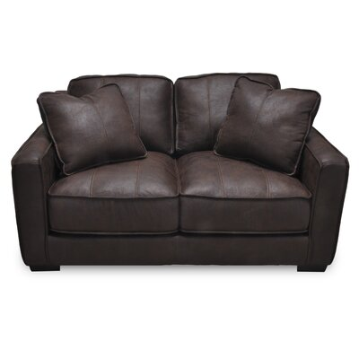 Alysia Loveseat Upholstery: Brown