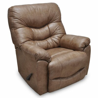 Eugenie Rocker Leather Recliner Upholstery: Camel