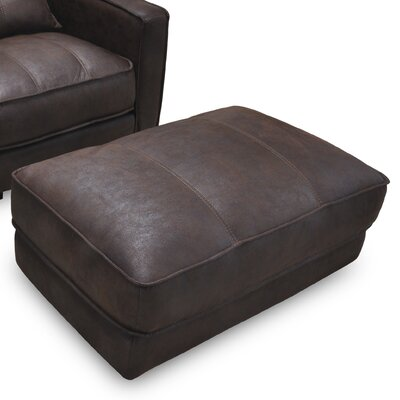 Alysia Push Up Ottoman Upholstery: Brown