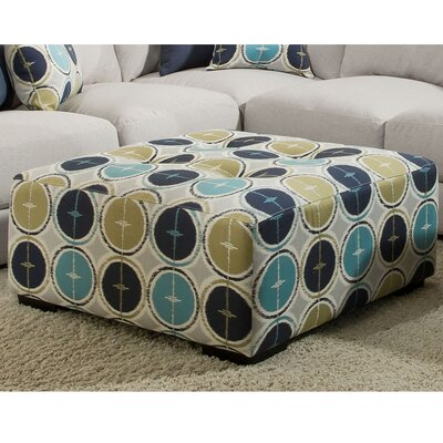Deidre Stationary Square Ottoman with Button Tufting