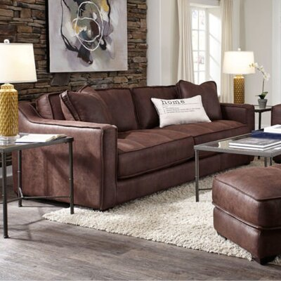 Alysia Sofa Upholstery: Brown
