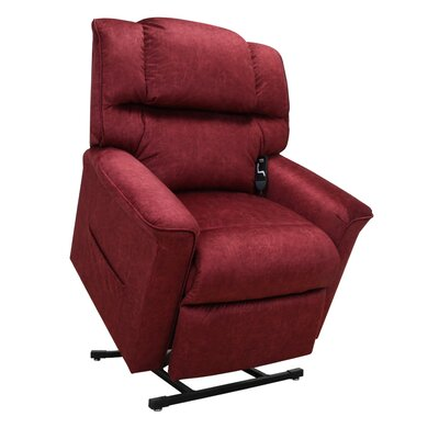 Oscar Power Lift Assist Recliner Upholstery: Vermillion