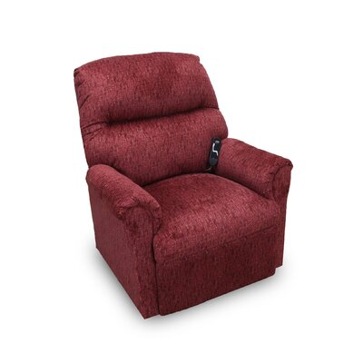 Mable Power Lift Assist Recliner Upholstery: Cranberry
