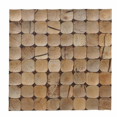 Kelapa 15.75 x 15.75 Coconut Shell Mosaic Tile in Grand Desert Bliss
