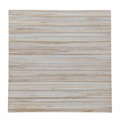 Terra Linea 16.54 x 16.54 Teakwood Hand-Painted Tile in Snow