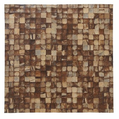 Artistica 16.54 x 16.54 Coconut Shell Mosaic Tile in Natural Bliss - Mini