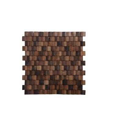 Terra Terrace 15.75 x 15.75 Melinjo Wood Mosaic Tile in Multi Brown
