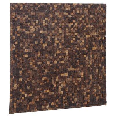 Artistica 16.54 x 16.54 Coconut Shell Mosaic Tile in Fantasy Espresso