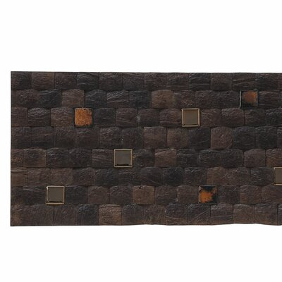 Kelapa 16.54 x 16.54 Coconut Shell Mosaic Tile in Fusion - Espresso Grain