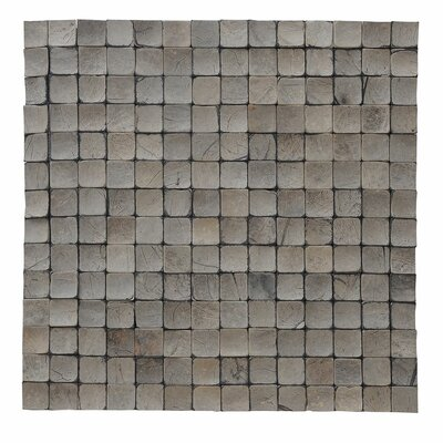 Kelapa 16.54 x 16.54 Coconut Shell Mosaic Tile in Tumbled Oyster Shell