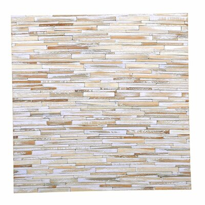 Artistica Valley 16.54 x 16.54 Teakwood Slice Mosaic Tile in Vintage