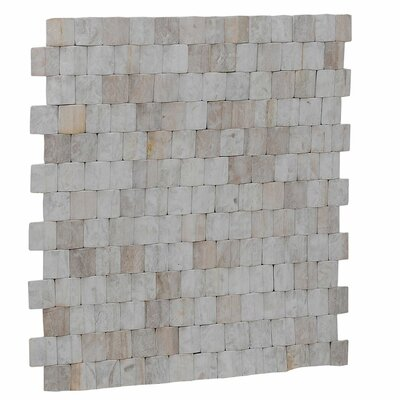 Terra Terrace 15.75 x 15.75 Melinjo Wood Mosaic Tile in Chiffon