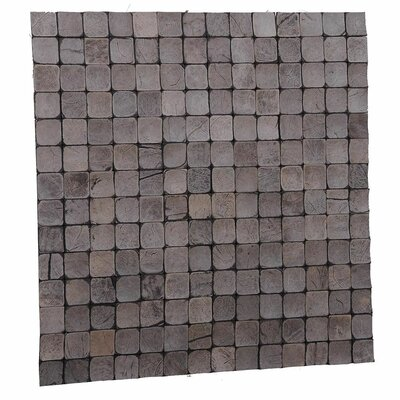 Kelapa 16.54 x 16.54 Coconut Shell Mosaic Tile in Tumbled Sandstone
