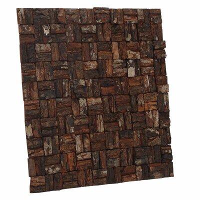 Terra Gaia - Basket Weave 15.75 x 15.75 Mahogany Bark Hand-Painted Tile