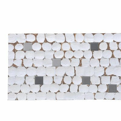 Kelapa 16.54 x 16.54 Coconut Shell and Ceramic Mosaic Tile in Fusion - White Patina