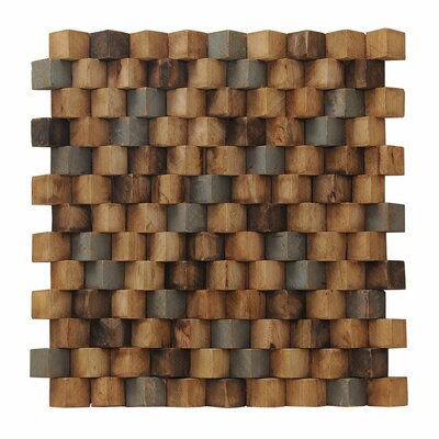 Artistica Grand Terrace 15.75 x 15.75 Teakwood Mosaic Tile in Multicolor