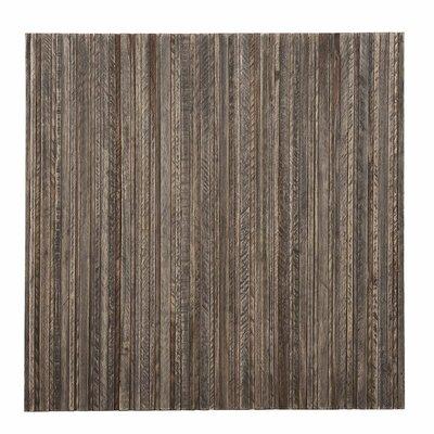 Terra Linea 16.54 x 16.54 Teakwood Hand-Painted Tile in Grey wash