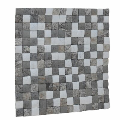 Kelapa 16.54 x 16.54 Coconut Shell Mosaic Tile in Tumbled Medley