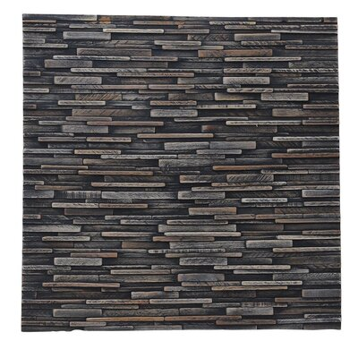 Artistica Valley 16.54 x 16.54 Teakwood Slice Mosaic Tile in Mixed Slate