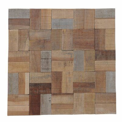 Terra Kayu Basket Weave 11.81 x 11.81 Hand-Painted Tile in Natural