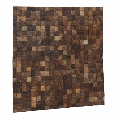 Artistica 16.54 x 16.54 Coconut Shell Mosaic Tile in Natural Grain - Mini