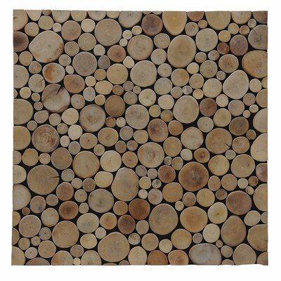 Terra Riverbed 16.54 x 16.54 Teak Branch Mosaic Tile in Natural