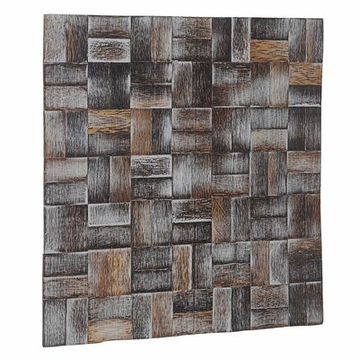 Terra 16.54 x 16.54 Palm Wood Hand-Painted Tile in Coastal