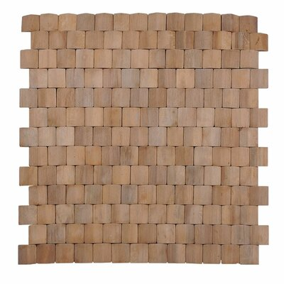 Terra Terrace 15.75 x 15.75 Melinjo Wood Mosaic Tile in Natural