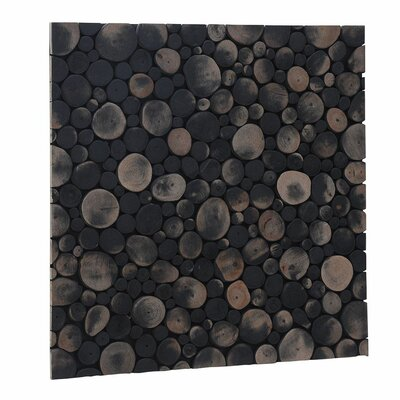 Terra Riverbed 16.54 x 16.54 Teak Branch Mosaic Tile in Charcoal