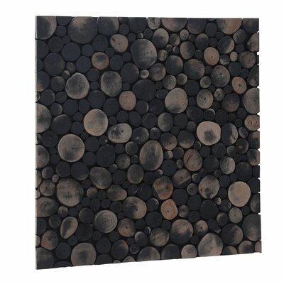 Terra Riverbed 16.54 x 16.54 Teak Branch Mosaic Tile in Charcoal