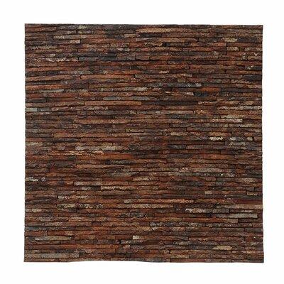 Artistica Gaia Stone 16.54 x 16.54 Mahogany Bark Hand-Painted Tile