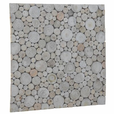 Terra Riverbed 16.54 x 16.54 Teak Branch Mosaic Tile in Pearl