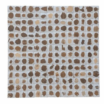 Kelapa 16.54 x 16.54 Coconut Shell Mosaic Tile in Tumbled Mocha