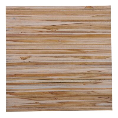 Terra Linea 16.54 x 16.54 Teakwood Hand-Painted Tile in Natural