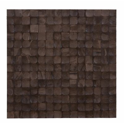 Kelapa 16.54 x 16.54 Coconut Shell Mosaic Tile in Espresso Bliss