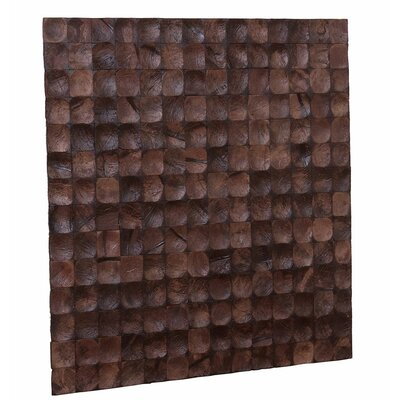 Kelapa 16.54 x 16.54 Coconut Shell Mosaic Tile in Brown Bliss