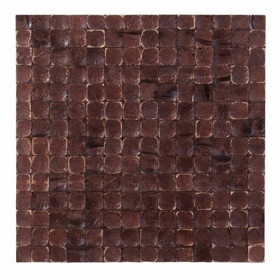 Kelapa 16.54 x 16.54 Coconut Shell Mosaic Tile in Brown Luster