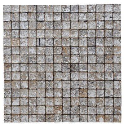 Kelapa 16.54 x 16.54 Coconut Shell Mosaic Tile in Tumbled Granite