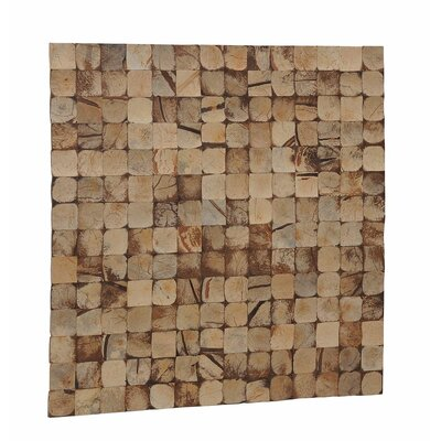 Kelapa 16.54 x 16.54 Coconut Shell Mosaic Tile in Natural Bliss