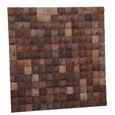 Kelapa 16.54 x 16.54 Coconut Shell Hand-Painted Tile in Pure Grain