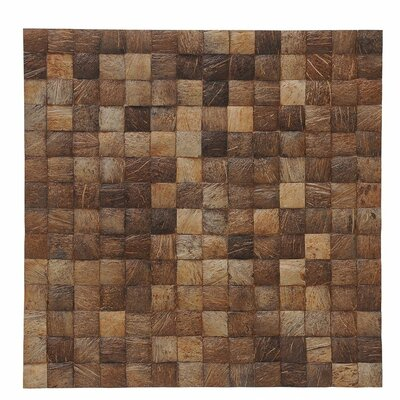 Kelapa 16.54 x 16.54 Coconut Shell Hand-Painted Tile in Natural Grain
