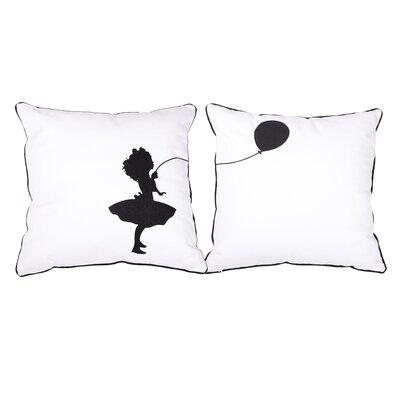 2 Piece Little Girl Outdoor Cotton Throw Pillow Set
